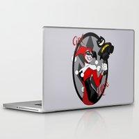 harley quinn Laptop & iPad Skins featuring Harley Quinn by Jordi Hayman Design