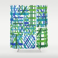 plaid Shower Curtains featuring Plaid by Smiley's Dreamboat