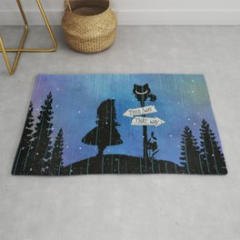 Any Road Will Get You There - Alice In Wonderland Rug