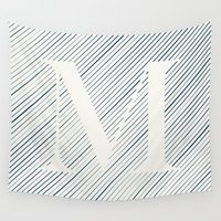 striped Wall Tapestries featuring Striped M by DLUTED DESIGN