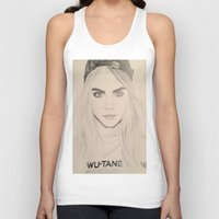 cara delevingne Tank Tops featuring Cara Delevingne by Moira Sweeney