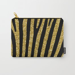 Gold glitter black zebra pattern Carry-All Pouch