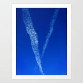 V-Sky Art Print