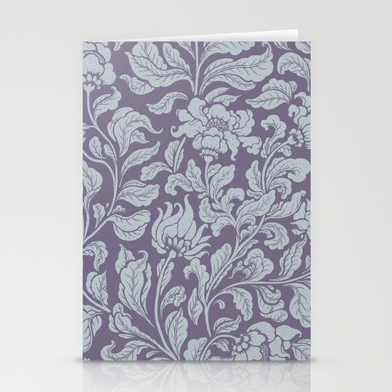 neo ethnic lavender Stationery Cards