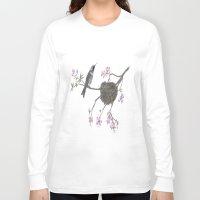 hummingbird Long Sleeve T-shirts featuring Hummingbird by Nancy Smith