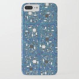 Blue tech iPhone Case