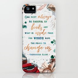 Be careful of books iPhone Case