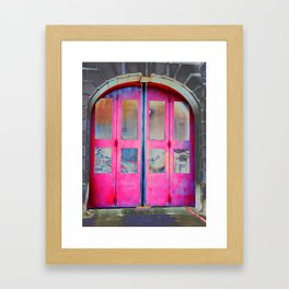 Red Doors Framed Art Print
