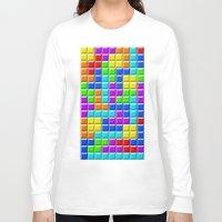 tetris Long Sleeve T-shirts featuring Tetris by Rebekhaart