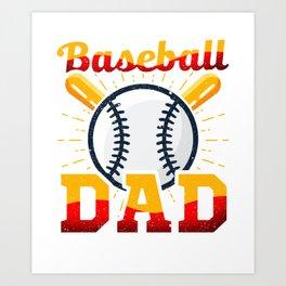 Awesome Baseball Dad for Baseball Parent Art Print