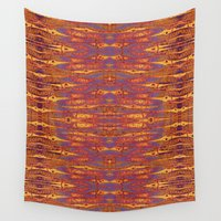 batik Wall Tapestries featuring PANDANUS BATIK by Wagner Campelo