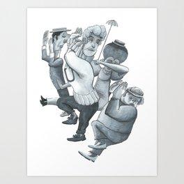 Dover Boys - B & W Art Print