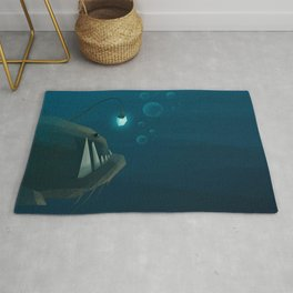 Only dead fish go with the flow Rug