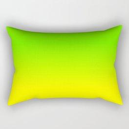 Neon Green and Neon Yellow Ombré  Shade Color Fade Rectangular Pillow