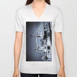 Tower Bridge Art Unisex V-Neck