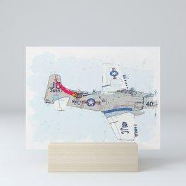 Douglas A-4 Skyhawk watercolor by Ahmet Asar Mini Art Print