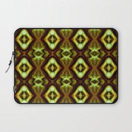 Bright Green Brown Diamond Pattern Laptop Sleeve
