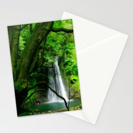 Waterfall in Azores islands Stationery Cards