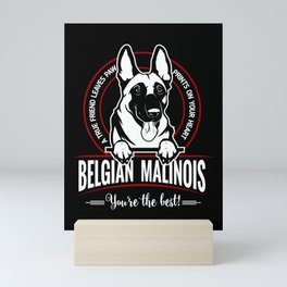 BELGIAN MALINOIS THE BEST FRIEND Mini Art Print