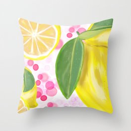 Strawberry Lemonade Throw Pillow
