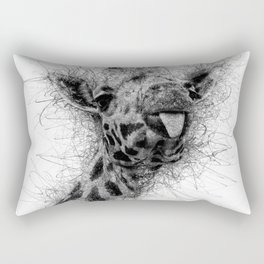 Giraffe line Rectangular Pillow