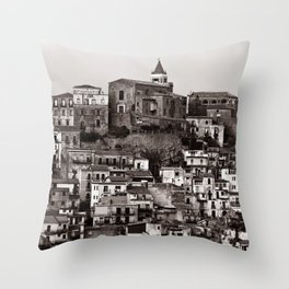 "Urban Landscape of Sicily ""VACANCY"" zine Throw Pillow"