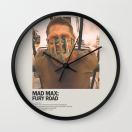 Mad Max Fury Road Minimal Movie Poster No 02 Wall Clock