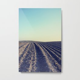 Rural Farm ploughed field Metal Print