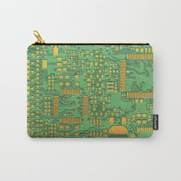 green electronic circuit board Carry-All Pouch