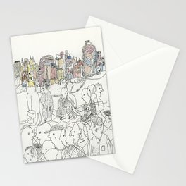 NYC buildings Stationery Cards