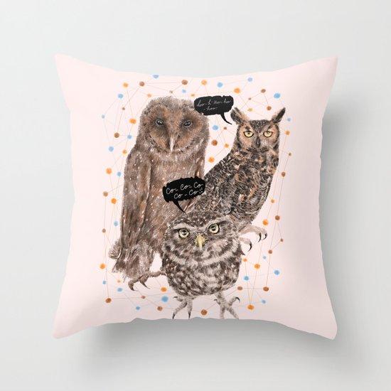 h'Hoo-hoo Throw Pillow