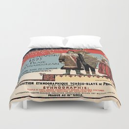 Czechoslav ethnographic exposition vintage ad Duvet Cover