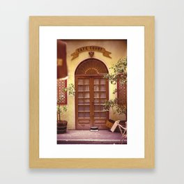 Cafe Court Framed Art Print