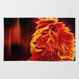 Fire Lion Rug
