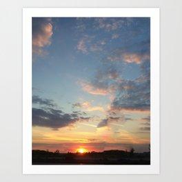 Duluth Sunset Art Print