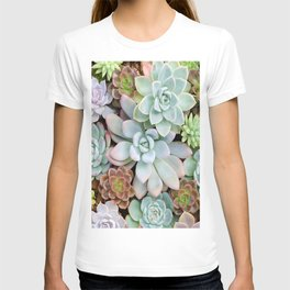Pastel Succulent Garden T-shirt