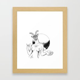 She-goat Framed Art Print