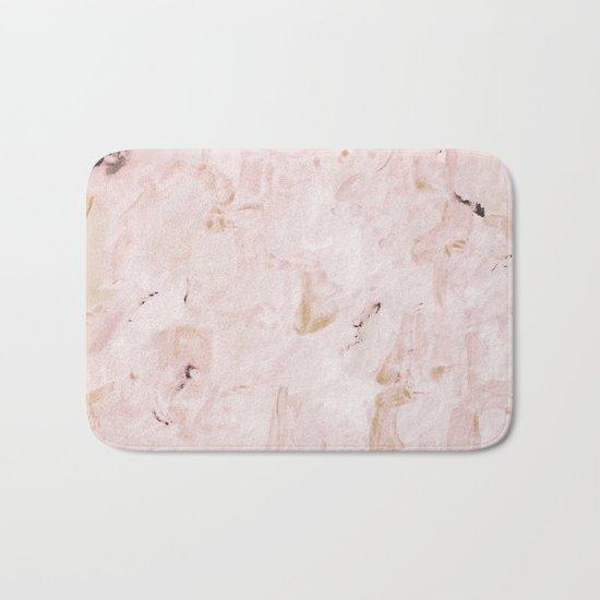 abstract-soft pink Bath Mat