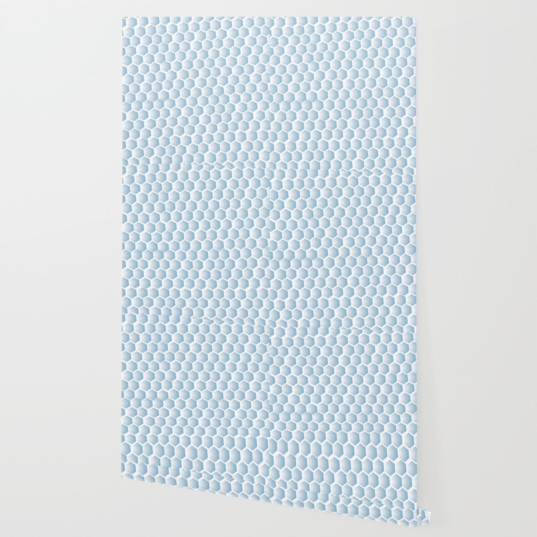 Light blue ombre hexagons, honeycomb texture Wallpaper by anjchang | Society6