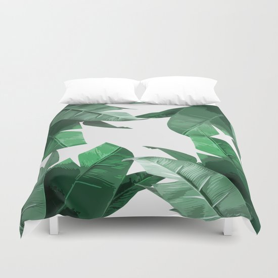 Tropical Palm Print Duvet Cover By Tamsin Lucie Society6