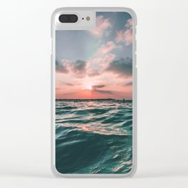 Deep Green Float Clear iPhone Case
