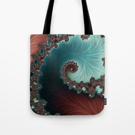 Velvet Crush - Teal/Copper Tote Bag