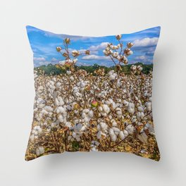Sea of Cotton Throw Pillow
