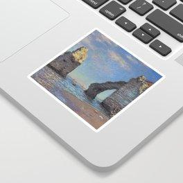 Claude Monet's The Cliffs at Etretat Sticker