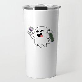 More Boos Please Funny Halloween Horror Scary Travel Mug