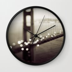 Meet Me In San Francisco (Black and White Edition)  Wall Clock