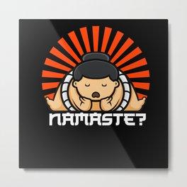Namaste Sumo Metal Print