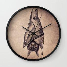 Bat Candle Wall Clock