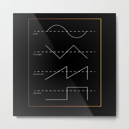 Sine Triangle Sawtooth Metal Print