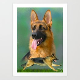 German Shepherd Breed Art Art Print